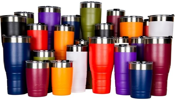 Our selection of tumbler colors.